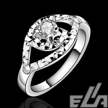 fshion jewelry HOT SALE wholesale silver plated plata stone female created rings