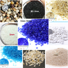 Micro Garden Decoration Sand Blue Aquarium Rock Water Fountain Nature Color Stone Pebble Miniatures Terrarium Ornament DIY