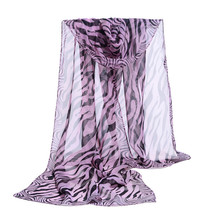 FEITONG 6 colors 2017 new fashion women chiffon scarf polyester Zebra stripes print autumn winter Pattern silk scarves shawl(China)