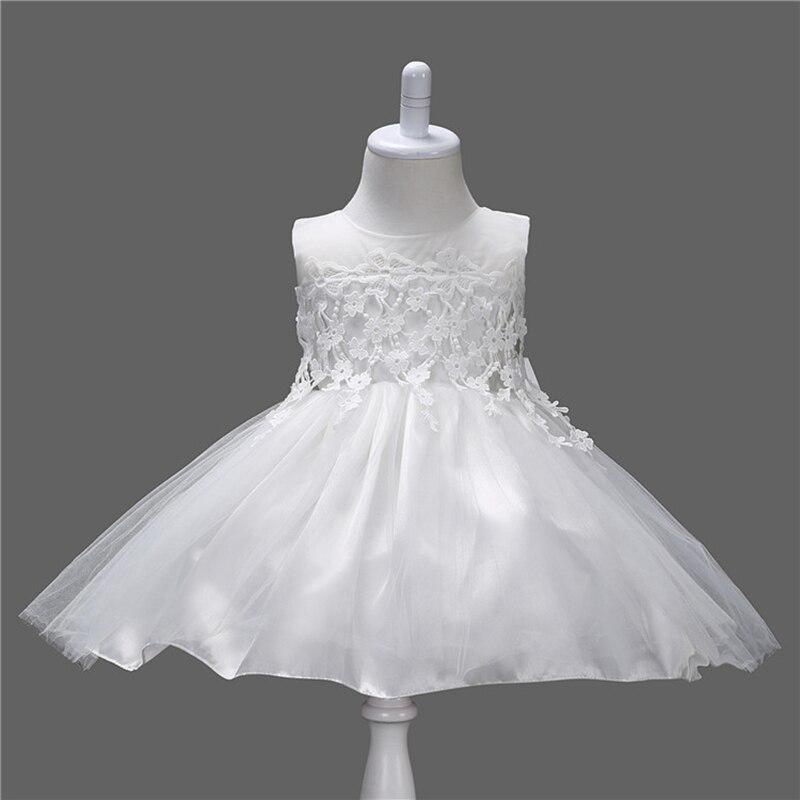 Summer Toddler Princess Girls Solid White Christening Wedding Wholesale Sleeveless O-neck Lovely Ball Gown Formal Dress<br><br>Aliexpress