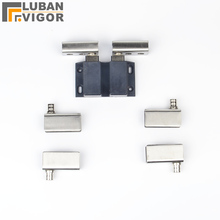 Double Door Glass Wine Cabinet hinge sets,Stainless steel,with Door sensor,Door sensor,hardware for glass thickness 5-8mm,8pcs