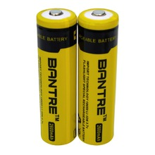 Original BANTRE 18650 Lithium Battery 2600mah 3.7V Rechargeable Battery Yellow For LED Torch Flashlight