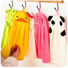 6pcs 6 color Towels bathroom hanging wipe bath towel beach towel multifunction soft plush fabric Kitchen hand towel