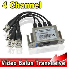 BNC 4CH Video Balun UTP Passive Coax Transmission Cat 5 RJ45 Transceiver 4 Channel CAT5 CCTV Camera Transceiver Receiver Cable