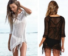 2016  Sexy women Swimwear  cover-ups beach Cover Up Bikini Cover Ups Knitting Swimsuit