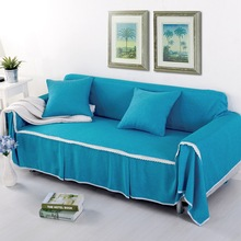 Korean Sofa Slipcover Solid Linen Cover For Couch Pastoral Chaise Longue Sofa Towel Single/Double/Three/Four-Seat capa de sofa