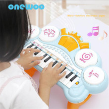 Puzzle Electronic Organ Girl Cartoon Instrument Electric Small Piano Toys Childhood Early Enlightenment Music Piano Toy Gifts(China)