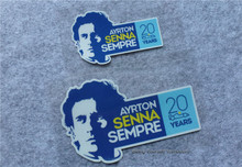2pcs/lot Ayrton Senna stickers Sempre 20 reflective vinyl decals car sticker motocross racing car styling motorcycle(China)