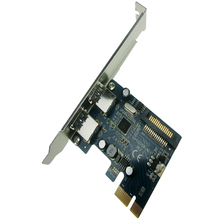 2-Port SuperSpeed USB 3.0 PCI-E PCIE PCI Express Connector Adapter usb3.0 Extender Add On Card Low Profile PCIN0302