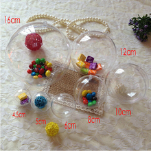Free shipping clear  ball shape plastic candy box;diameter(6cm),100pcs/lot,XJXP1