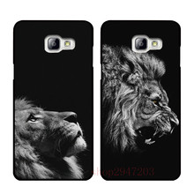 Hot sell lion Black hard shell Suitable for Samsung Galaxy A3 A5 A7 2015 2016 2017(China)