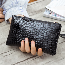 Fashion Luxury Brand Women Wallets Crocodile Leather Wallet Female Coin Purse Wallet Women Wristlet Money Bag Makeup Bag Small