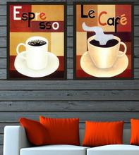 Christmas Wall Picture Oil Painting 2PCS Coffee Canvas Painting Poster Wall Pictures For Living Room Home Decoration qt
