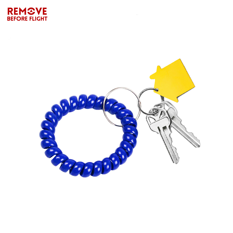 Fashion Multifunctional Coil Bracelet Key Ring Holder Coil Spring Key Chains Jewelry Hair Ring Sauna and Beach Keyring Bracelets (3)
