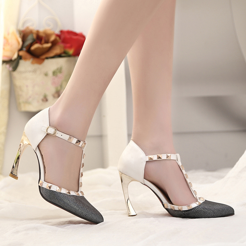 New 2017 women pumps pointed toe shoes high heels top design women sandals sexy party wedding shoes female ladies shoes<br><br>Aliexpress
