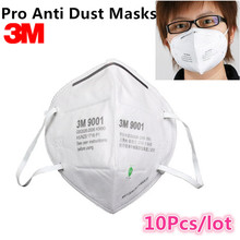 10Pcs 3M 9001 KN90 Dust Masks Respirator Anti-dust PM2.5 Industrial Construction Pollen Haze Gas Family & Pro Site Protection(Hong Kong)