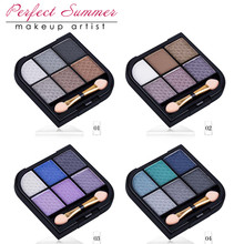 Perfect Summer High Quality Pro Fashion Colorful Eyeshadow Palette Natural Cosmetics Naked Makeup Shining Eye Shadow With Brush(China)