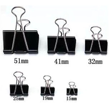 36pcs/lot Paper Clips Creative Clip Office School Home Supplies Black Metal Binder Clips Stationery Retail Wholesale Papelaria(China)
