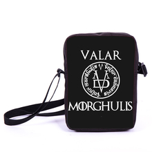 Valar Morghulis Messenger Bag  Night's Watch Mini Shoulder Bag Women Handbags Men Game Of Thrones Children School Bags Kids Bags