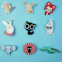 New Fashion Brooches Acrylic Lovely Girl Gift Children Animal Crocodile Badge Brooch Pin Badges Ali Elephant Rabbit Wholesale