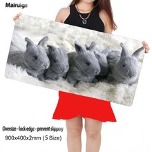 Mairuige Grey Rabbit Animal Computer Large Locking Edge Mouse Pads Laptop Keyboard Mat for League of Legends LOL Free Shipping(China)