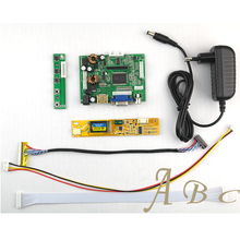 HDMI VGA 2AV Audio Video Controller Board + Inverter + 30P Lvds Cable Kit for Raspberry PI 1280x800 1ch 6 bit LP154WX4 LCD Panel