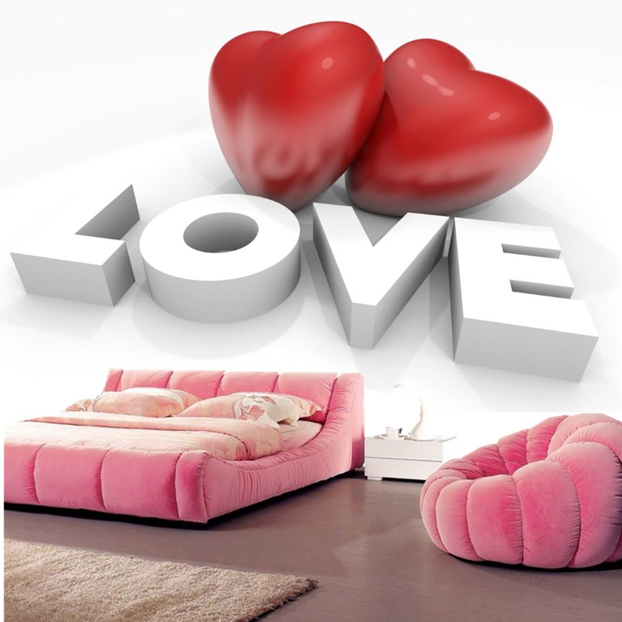 Custom Valentines Day Heart  3d embossed wallpaper papel de parede, living room sofa TV wall Theme Room wallpaper murals 3d <br>