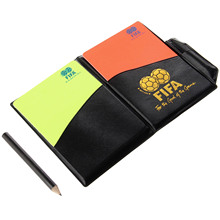 1PC Soccer Match Referee Supplies Red Card/Yellow Card Referee Game Appliances With Holster+Pen Football Equipment Pencil Wallet