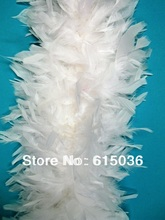 40g White turkey chandelle feather boa,long feather lady scarf for clothing accessories, wedding or party
