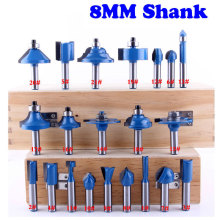 1pcs 8mm Shank wood router bit Straight end mill trimmer cleaning flush trim corner round cove box bits tools Milling Cutter(China)