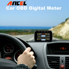 ANCEL A501 Car HUD Digital Meter Gauge 10 in 1 with Coolant trmp/Fuel/Volt/RPM Tachometer Alarm OBD Code Reader DTC PK A202 X50
