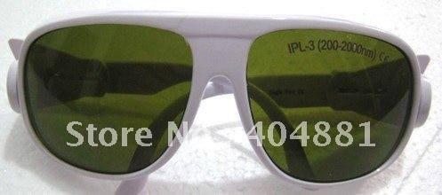 IPL safety glasses/goggles/eyewear 200-2000nm, CE certified, O.D 4+  good V.L.T% white frame<br>