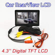 4.3-inch color TFT LCD monitor display Car parking rearview backup 4.3'' video PAL/NTSC FREE SHIPPING