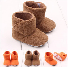 2015 Fashion New Solid Baby Shoes Boots Soft Sold Infant Newborn Winter Warm Shoes