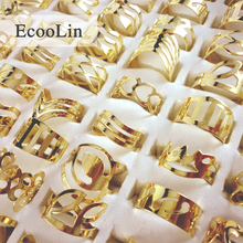 20Pcs Zinc Alloy Vintage Gold Plated Gypsy Adjustable Tattoo Finger Rings For Women Men Mix Style Whole Jewelry Bulks BK129