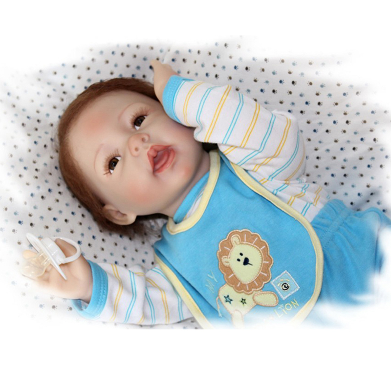 2016 New Arrival Silicone Reborn Baby Doll 50-55cm Toys Baby Reborn Dolls Best Gift to Children Toy play house Baby Doll<br><br>Aliexpress