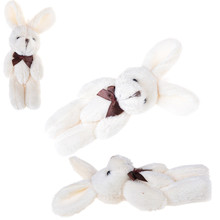 NEW Wedding Gift Joint Rabbit Bouquet DIY Pendant Plush Stuffed TOY Plush Animals 10cm Small Rabbit Stuff Toys(China)