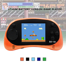 RS-8A Video Game Console 8 Bit 2.5 inch Handheld Game Player Built-in 260 Different Games Children's Game Color Tetris(China)