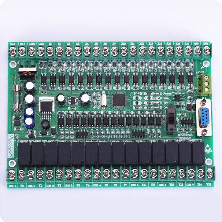 PLC manual board FX1N 2N 30MR 30MT online download monitoring can be connected to the touch screen text<br>