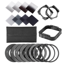 Zomei Gradient Neutral Density Complete & Gradual ND Square Filter Kit +Adapter rings for Cokin P Series SLR DSLR Camera Lens