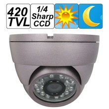 Violet Dome 420TVL 1/4 Sharp CCD CCTV Camera for Security Video Surveillance , 24 pcs IR LED/20m Night Vision, Free Shipping