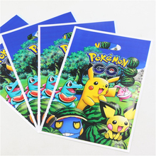 Gift Bag Loot Bag 10pcs Pokemon Go Design Pvc Bag Theme Boy Happy Birthday Party Decoration Kids for Loading Candy(China)