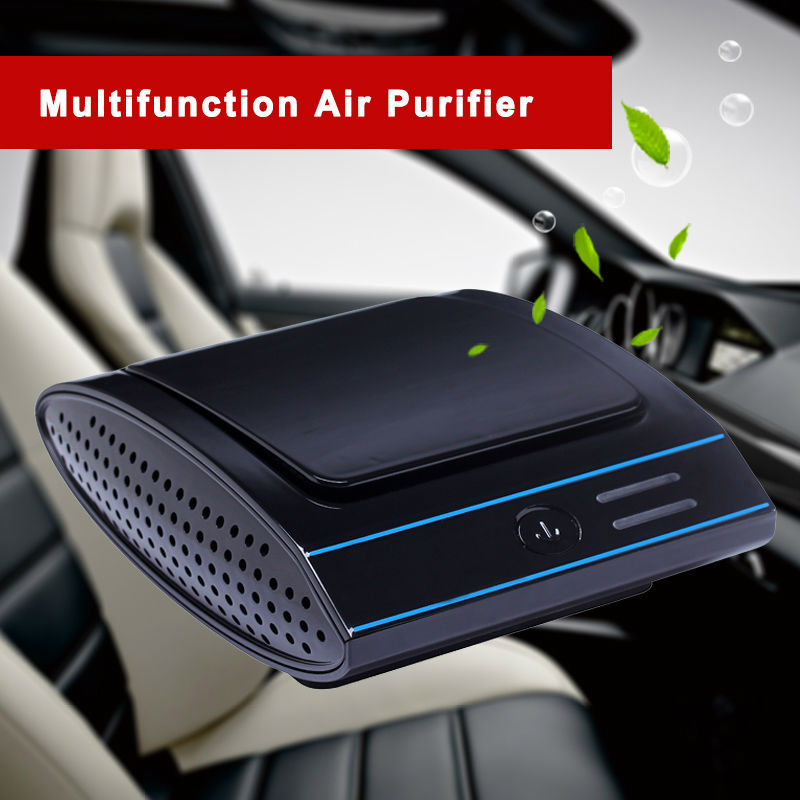 2017 Hot car air freshener sterilization hepa filter exhaust fan purifier air eliminate odor filter dust ionizer air purifier<br>