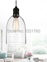 medium size crystal bell glass pendant lights Modern glass lamp Dining room Indoor Contemporary lighting fixtures
