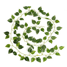 2017 New Delightful Natural Artificial Ivy Leaves Garland Foliage 2M Long Home Decor Wedding Party Decoration