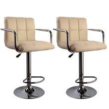 2 PC High quality Swivel Office Furniture Computer Desk Office Chair in PU Leather Chair bar stool New  HW50133-2OW