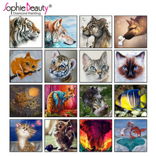 Buy Full circular Diamond Animal Tiger 5D DIY Diamond Painting Embroidery Cross Stitch Rhinestone Round Mosaic Painting home Decor for $2.94 in AliExpress store
