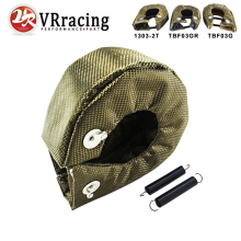 VR - 100% Full TITANIUM turbo heat shield T3 turbo blanket fit : t2 t25 t28 gt28 gt30 gt35 and most t3 turbo VR1303-2T/TBF03(China)