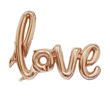 LOVE letters Foil Balloon Romantic Mylar Balloons for Valentin's Day Engagement Wedding Party Decoration