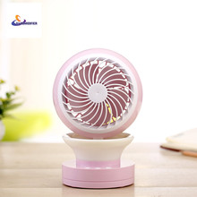 YJ HUMIDIFIER New Mini USB Fan Portable Desk Mini Fan for Office USB Electric Air Conditioner Small Fan Angle Adjustment Cartoon